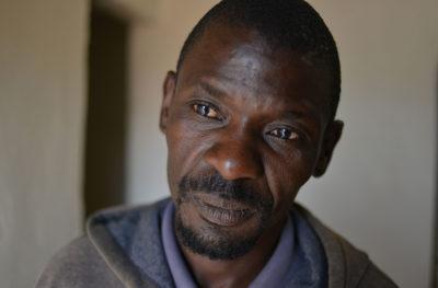 Environmental activist Thomas Mnguni at his home in Middelburg.