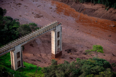 A torrent of mud and water released by the collapse of a mining dam in southeastern Brazil in January killed about 300 people.