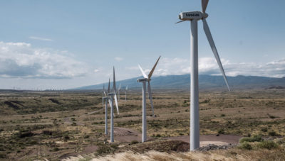 Wind turbines at the Lake Turkana Wind Power project in northern Kenya. Some Kenyan wind farms are being located in areas with sizable populations of endangered birds.