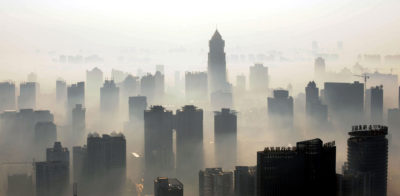 Wuhan, seen here covered in smog in 2009, is one of the Chinese cities found to regularly have dangerous levels of multiple air contaminants.