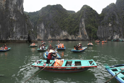 Nearly 7 million tourists visited Ha Long Bay in Vietnam in 2017, fouling waters with human waste and garbage.