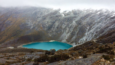 Santa Cruz Lake in the Peruvian Andes is one of several glacier-fed lakes that provide water to the city of Huaraz.