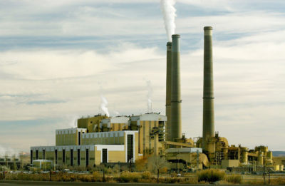 Hunter Power Plant, a coal-fired power station, in Castle Dale, Utah.