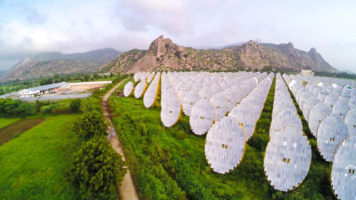 The India One Solar Thermal Power Plant in northwest India.