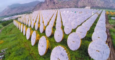 The India One project, a 1 MW solar thermal power plant in Abu Road, Rajasthan, India.
