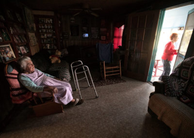 Denecia Billiot, 93, knows that her time in the house where she and her husband, Wenceslaus, raised their seven children is limited.