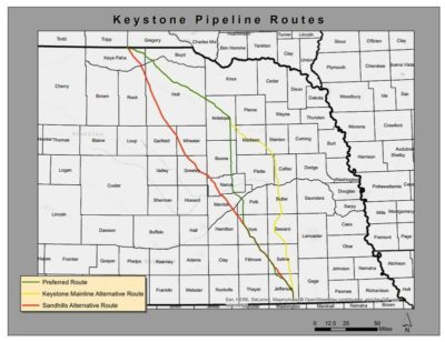"TransCanada has been approved to build the Keystone XL pipeline along its ""mainline alternative route,"" which lies north of the originally intended route, and avoids the fragile Sandhills ecosystem."