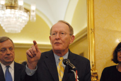 Republican Senator Lamar Alexander, chair of Senate appropriations subcommittee on energy and water development.