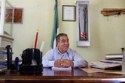 Luis Adolfo Alcántara Nuñez, the municipal president of the town of Totontepec.