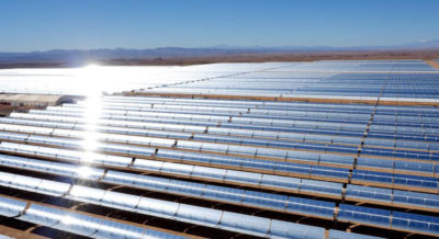 The first phase of Morocco's huge new solar farm, Noor 1, was completed in the Sahara in 2016.
