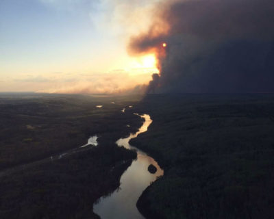 The 2016 Fort McMurray wildfire burned along the Athabasca River, damaging the drinking water supplies for tens of thousands of people.