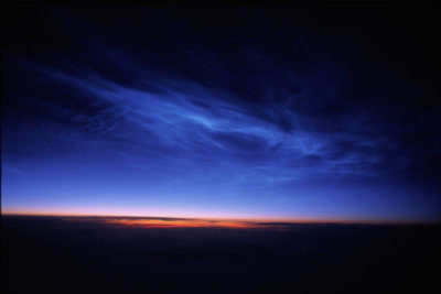 Noctilucent clouds form only in the summertime and are only visible at dawn and dusk.