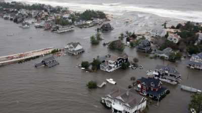 Aerial views of the damage caused by Hurricane Sandy to the New Jersey coast, October 30, 2012.