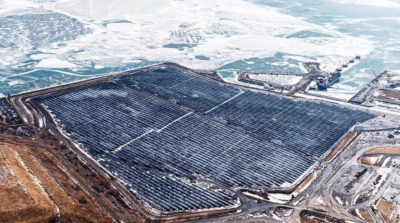 The 44-MW Nanticoke Solar Farm in Ontario.