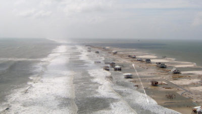 Hurricane Katrina damaged or destroyed 450 of the 500 houses on the west end of Dauphin Island in 2005.