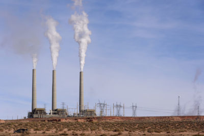 The Navajo Generating Station, a coal-fired power plant in Arizona, which stopped operating in November 2019.