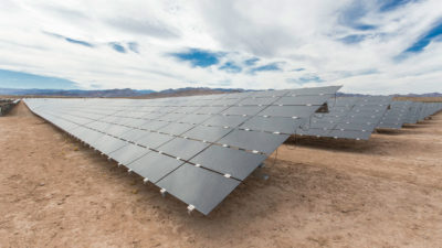 A solar array on the Moapa Band of Paiute Indians Reservation in southern Nevada.