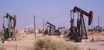 Oil pumps in California's Midway-Sunset oil field.