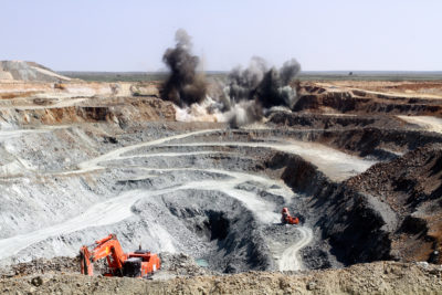 An open pit mine in Russia.