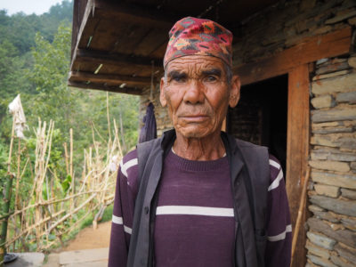 With his children either living abroad or elsewhere, Dhan Bahadur Budda has stopped farming most of his land on the outskirts of Ghamir.