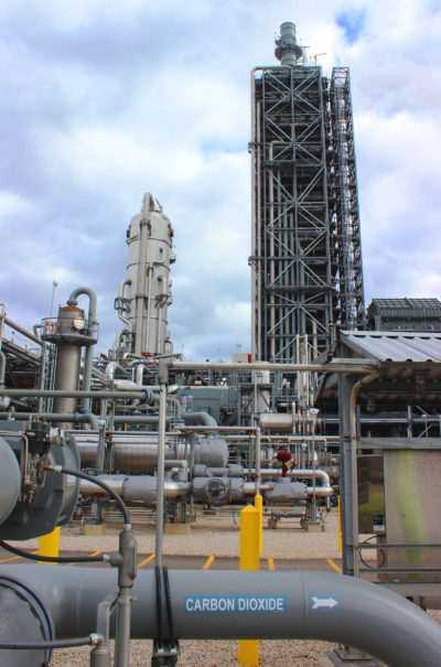 The Petra Nova facility in Texas will capture more than 1 million tons of CO2 annually.