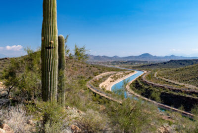 Cutting through the desert for most of its route, the Central Arizona Project canal loses approximately 16,000 acre-feet of water a year to evaporation, or about 1 percent of its annual flow.