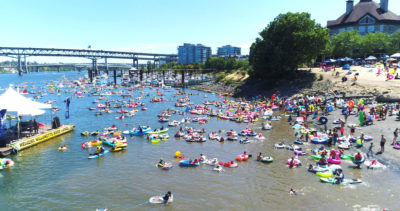 The annual Big Float event has helped encourage recreational use of the Willamette River in Portland, Oregon.