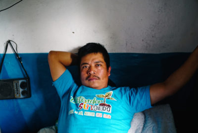 Víctor Vásquez was shot in the leg by police while shooting video of an eviction in a local village on January 13, 2017.