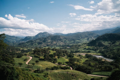 The mountains outside the village of Rio Blanco in western Honduras, where indigenous people are opposing a proposed dam.