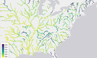 Scientists created an interactive map tracking how U.S. rivers have changed color in recent decades.