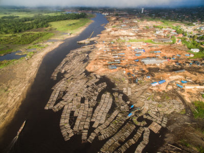 Sawmills along the Manantay River in Pucallpa, Peru, a major transport hub for timber illegally harvested from the Amazon.