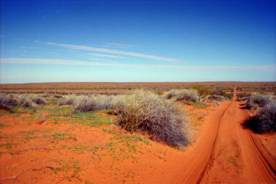 The Simpson Desert in the Australian Outback.