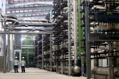 The Tuas Desalination Plant in Singapore, which opened in 2018, can produce 30 million gallons of fresh water a day.