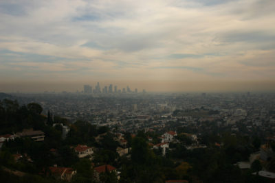 Smog over downtown Los Angeles, which is among the top five worst U.S. cities for air pollution.