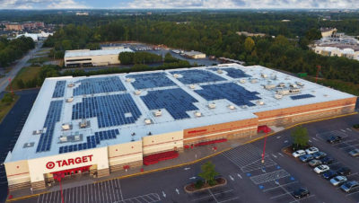 The retail giant Target has 147.5 megawatts of installed solar capacity on its buildings, the most of any U.S. company.