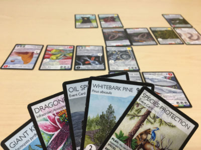 The Phylo Trading Card Game works similarly to Pokémon trading cards, but uses real organisms and natural events instead of imaginary characters.