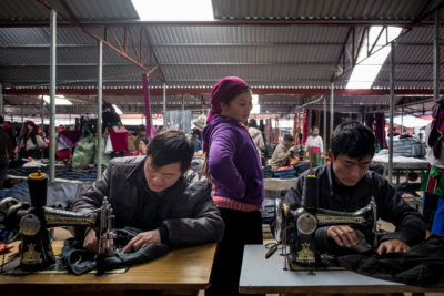 A garment factory in the Vietnamese province of Ha Giang, just across the border from China, which has been offshoring its manufacturing to  other countries.