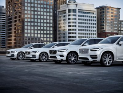 Volvo's plug-in hybrid model cars.