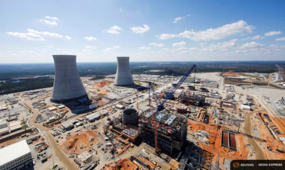 Westinghouse has been building this nuclear power plant near Waynesboro, Georgia, but the company's recent bankruptcy puts its completion in doubt.