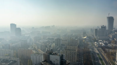 Warsaw, Poland's capital, shrouded in smog in 2015. The country has some of the poorest air quality in Europe.