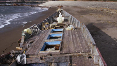 A North Korean ghost boat washed ashore along the coast of Japan.