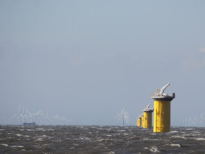 ​The construction of new 8MW turbines in the Irish Sea.​