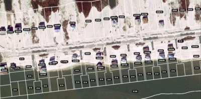 The real estate website Zillow still assigns property values to parcels of land on the west end of Dauphin Island that are now underwater.