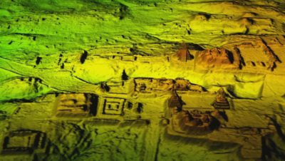 LIDAR technology recently revealed the ancient Mayan city of Tikal in Guatemala.