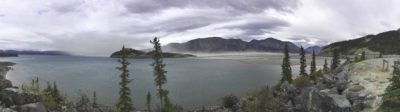 Less input from the Slims River has lowered the water level of Kluane Lake, the largest lake in the Yukon, exposing sediments and creating dust storms.