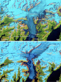 Columbia Glacier NASA Satellite