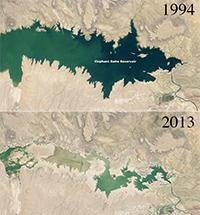 Drought at Elephant Butte Reservoir New Mexico