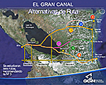 Nicaragua Canal Feasibility Study Routes