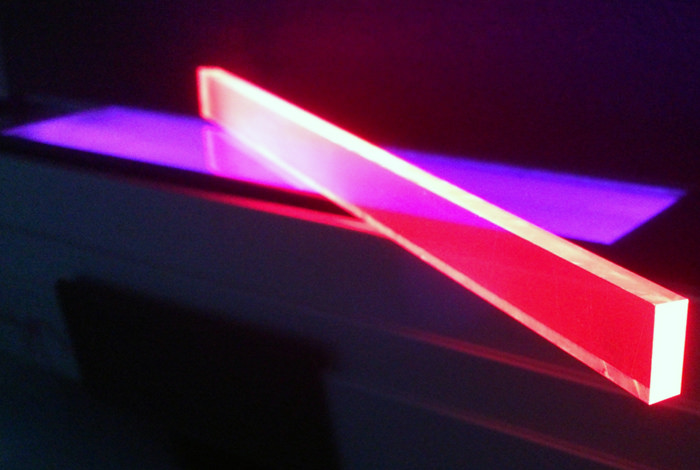 Solar-harvesting materials under UV light