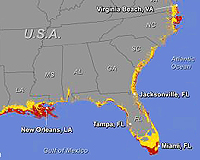 Future Effects of Rising Seas Depicted for US in New Study and Map